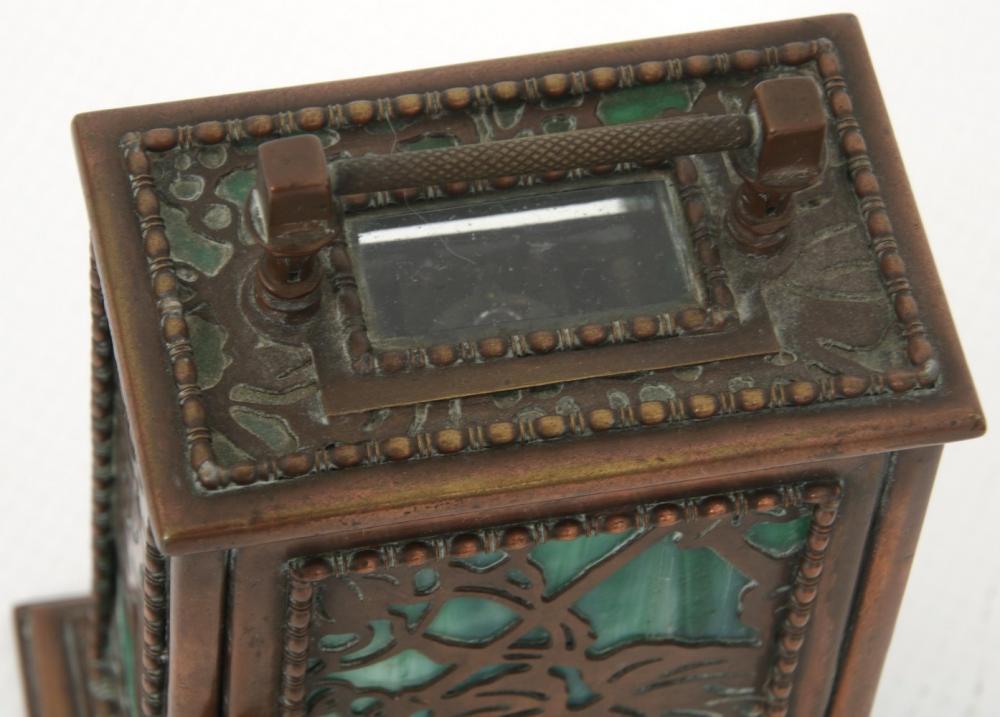 "Tiffany Studios ""Grapevine"" Carriage Clock"