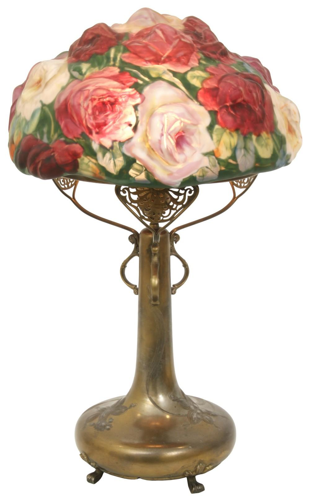 "Pairpoint Puffy ""Rose"" Table Lamp"