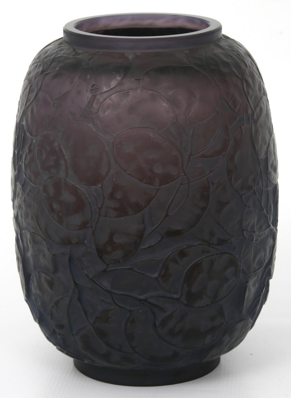 """René Lalique """"Monnaie du Pape"""" Vase"""
