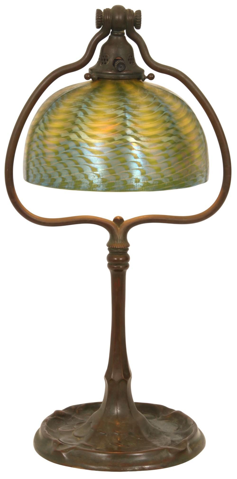 """Tiffany Studios """"Harp"""" Desk Lamp"""