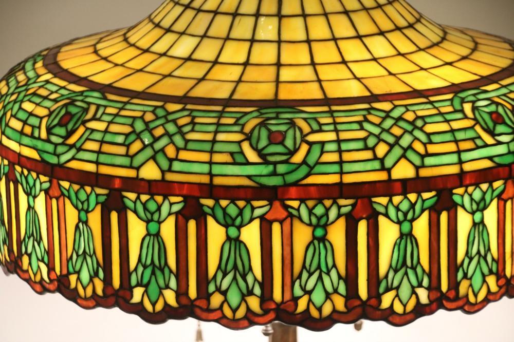 Gorham Leaded Glass Table Lamp