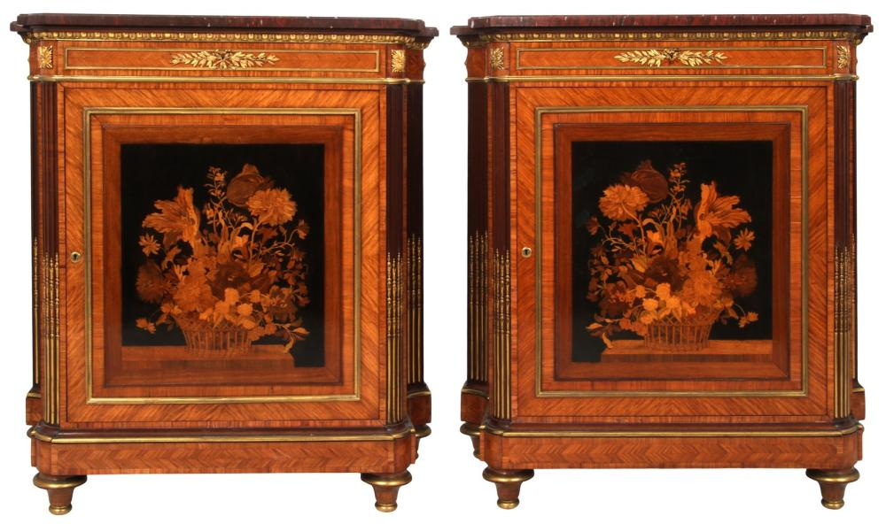 Pair of Grohé Frères Louis XVI Style Cabinets