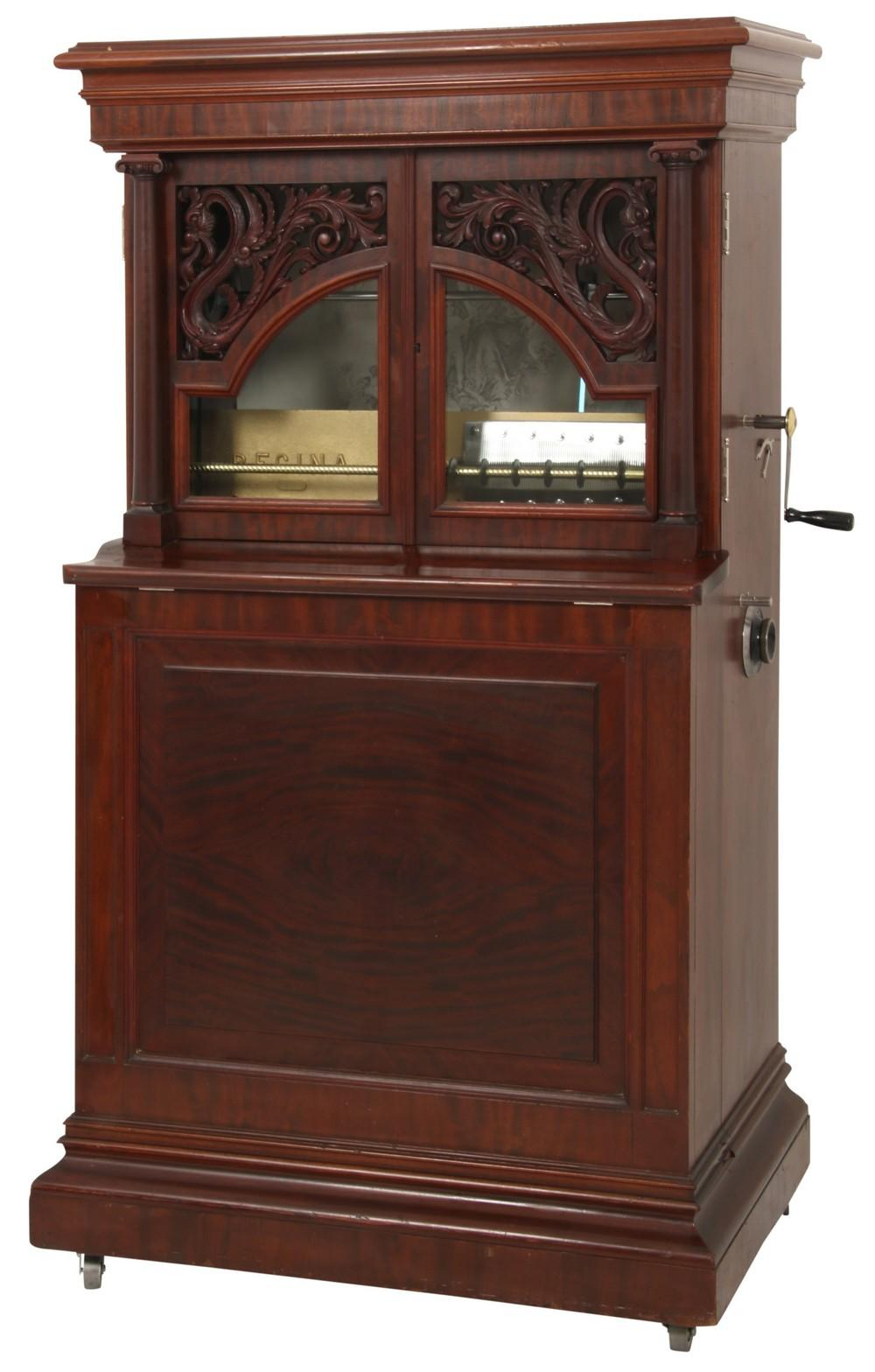 Regina Disc Changing Music Box with Cabinet