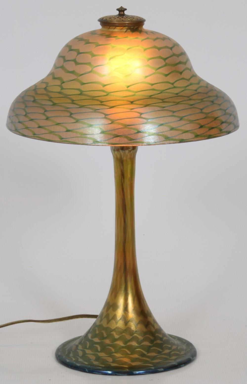 Tiffany Studios Favrile Glass Table Lamp
