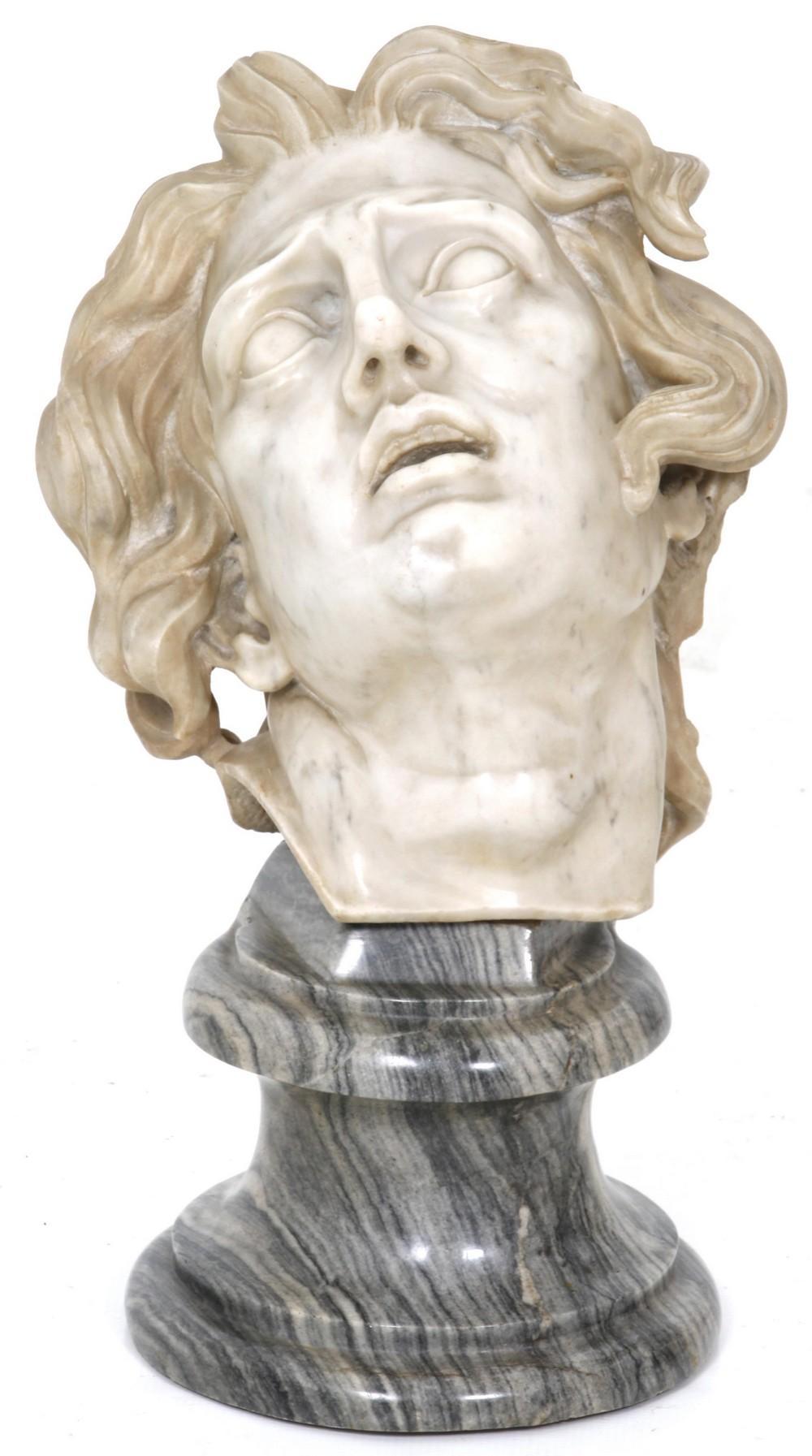 Marble Head of Saint Sebastian