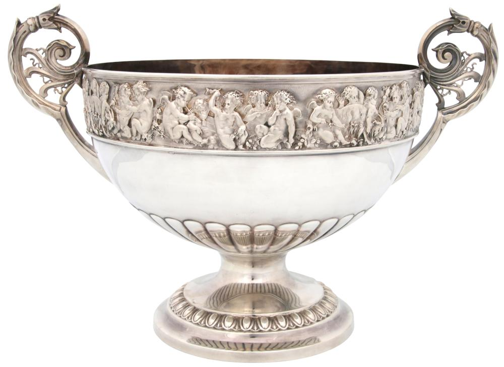 Elkington & Co. Sterling Silver Punch Bowl