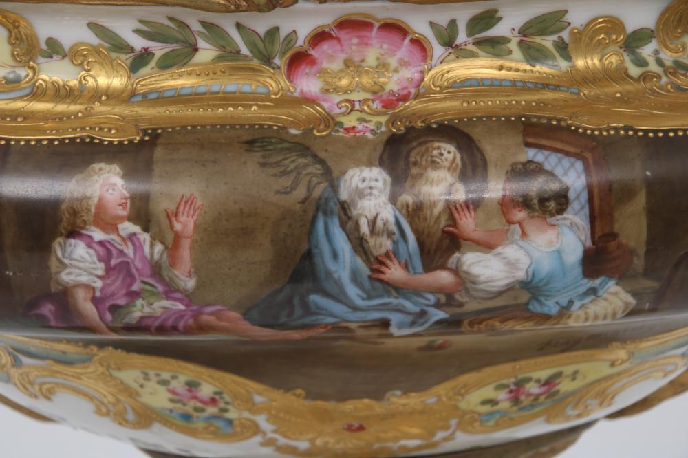 Meissen Porcelain & Gilt Bronze Centerpiece