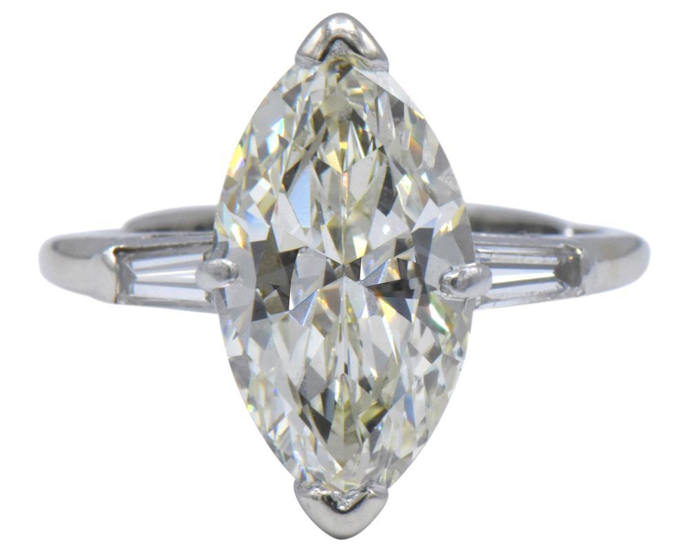 3.93 Carat Marquise Diamond Ring