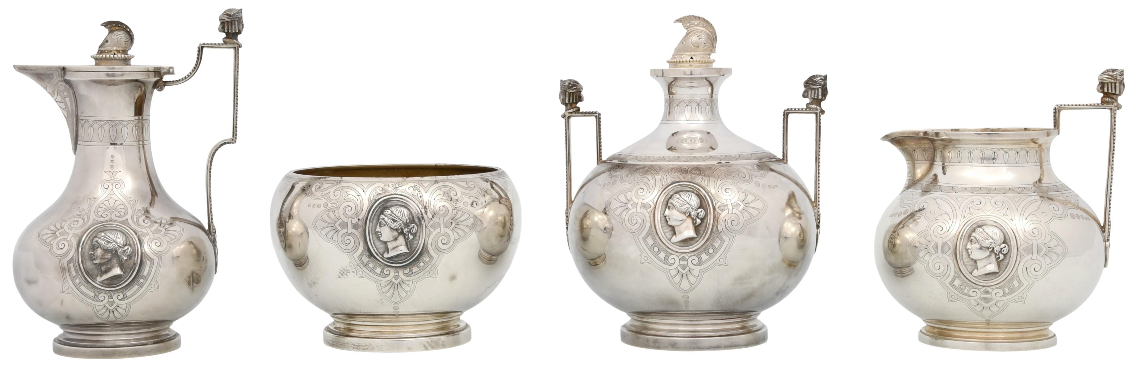 Four Tiffany & Co./Ball, Black & Co. Silver Pieces
