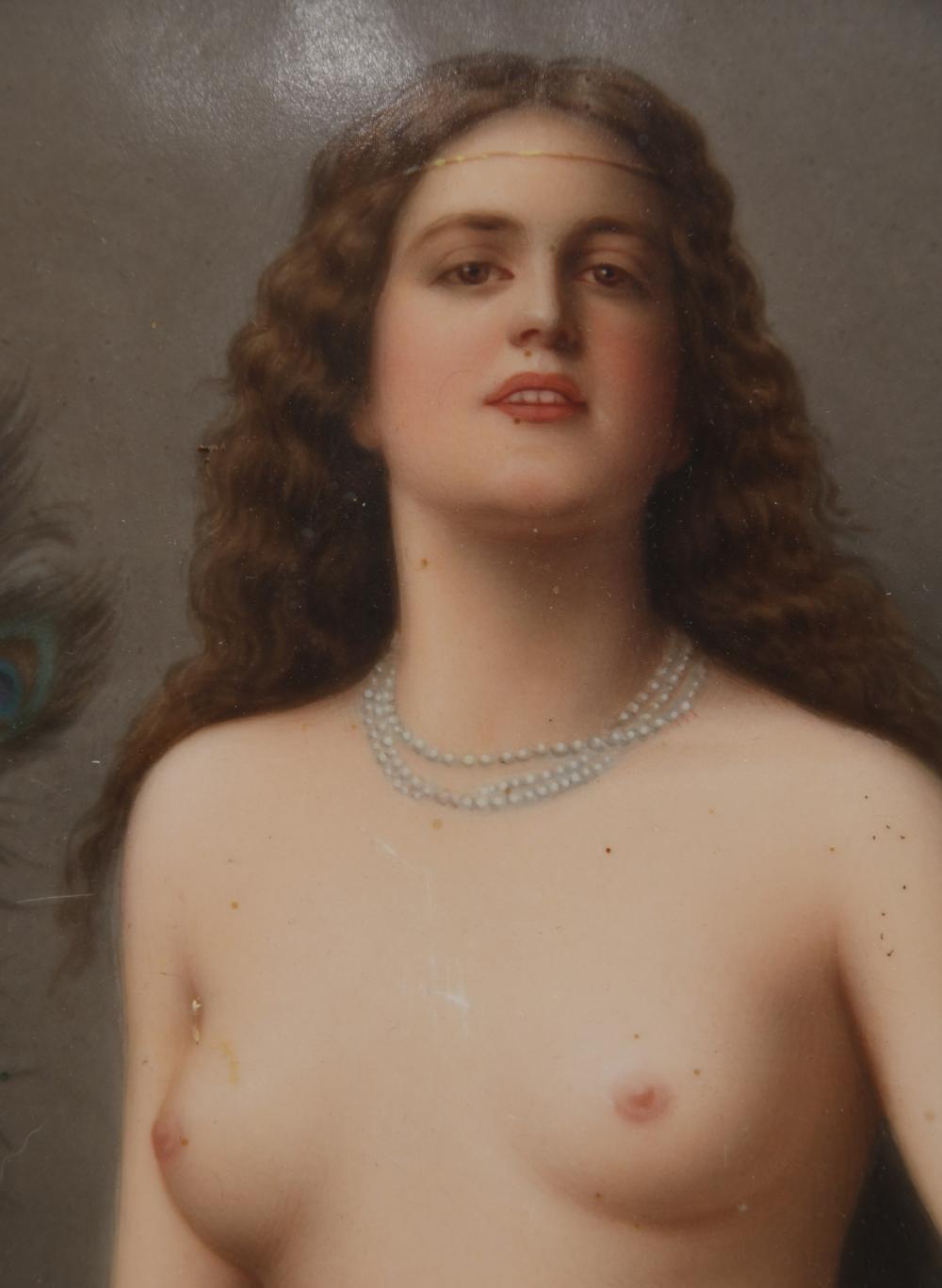 KPM Porcelain Plaque of a Nude Woman