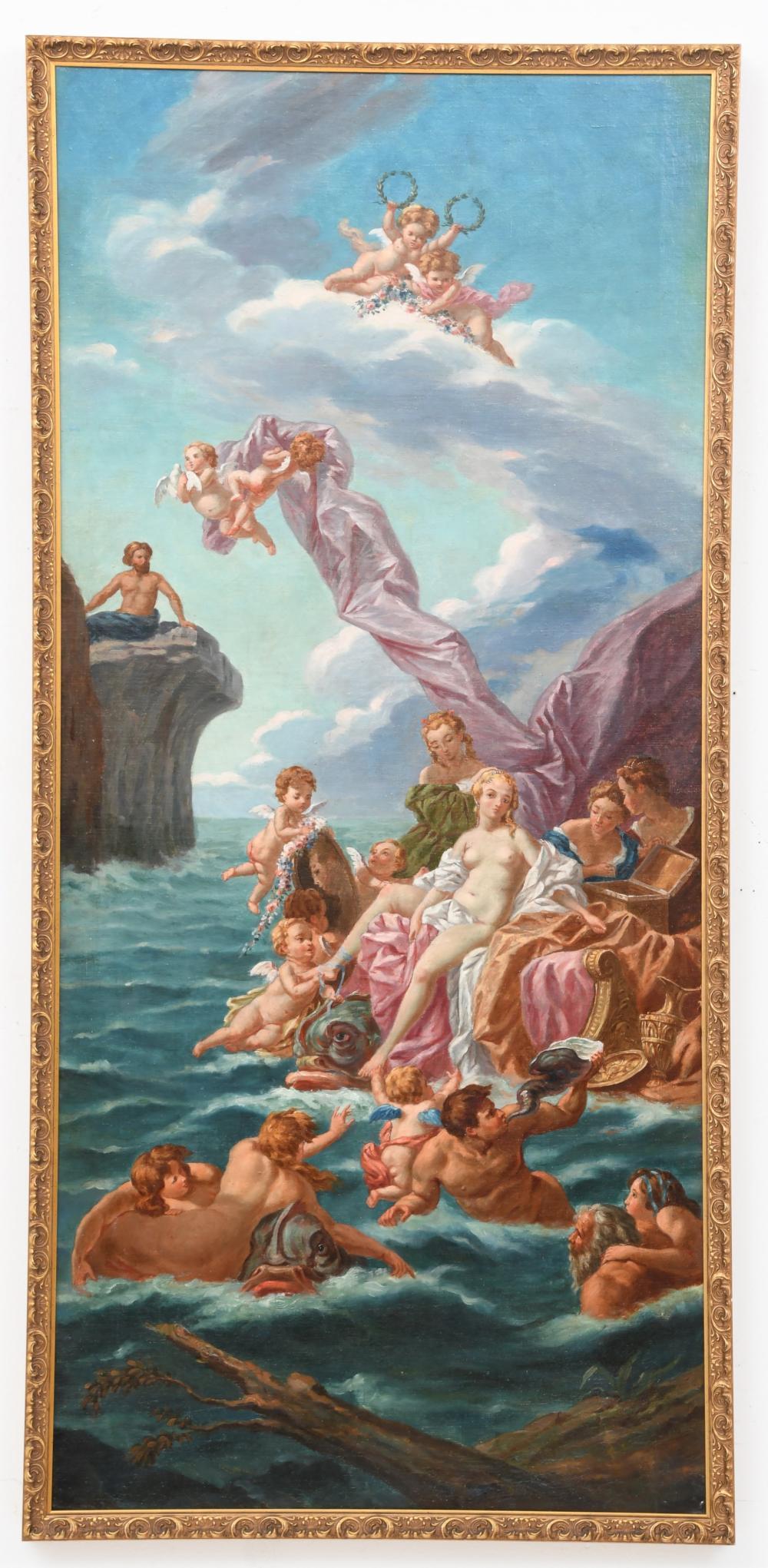 Three Greek Mythology Oil Paintings