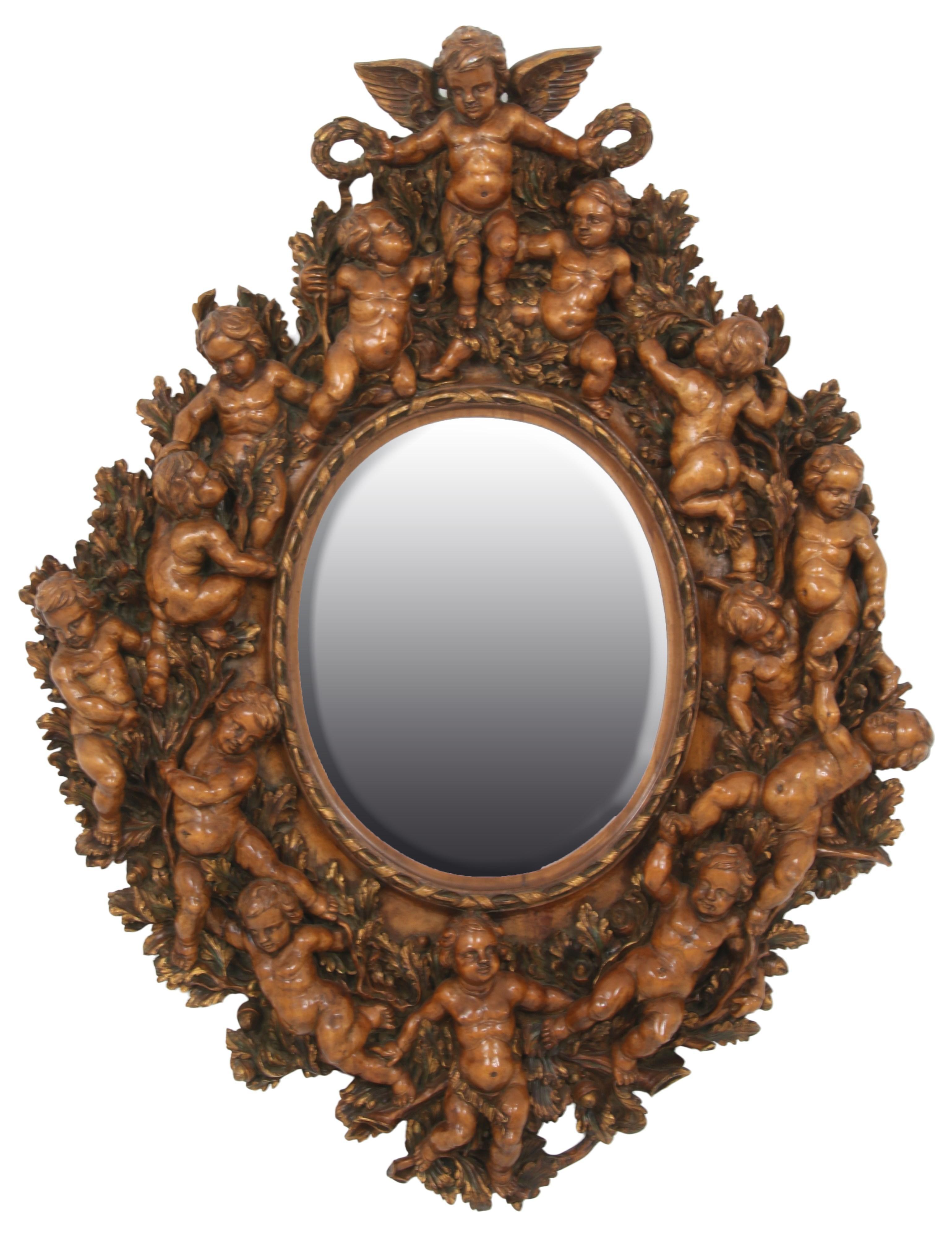 Studio of Valentino Besarel, Cherub Mirror