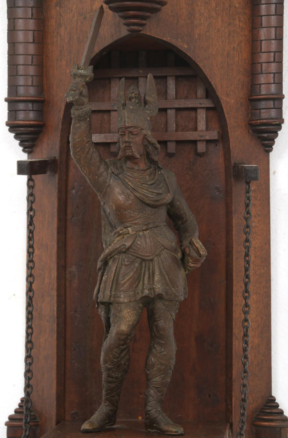 German Carved Walnut Gothic Revival Wall Shelves