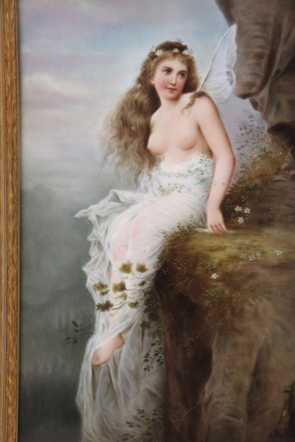 KPM Porcelain Plaque of a Fairy