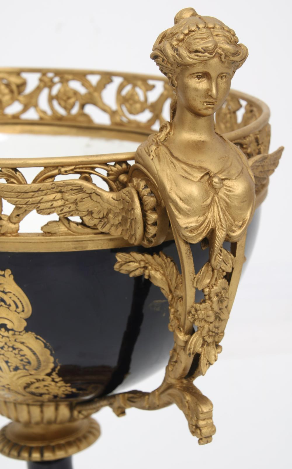 Sèvres Gilt Bronze & Porcelain Centerpiece