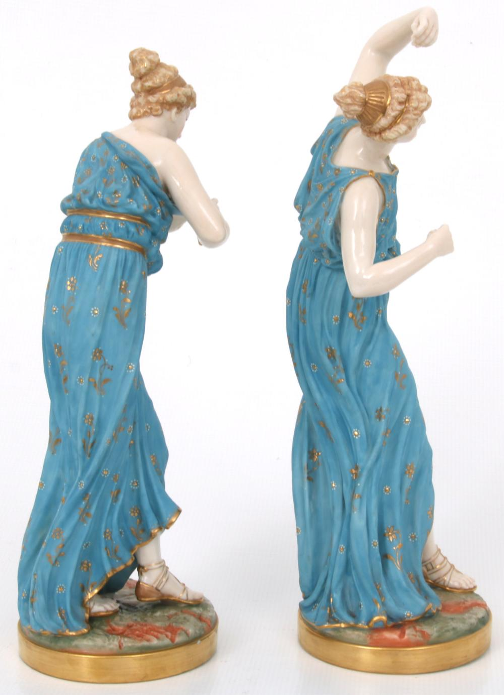 Two Royal Worcester Porcelain Figurines of Women