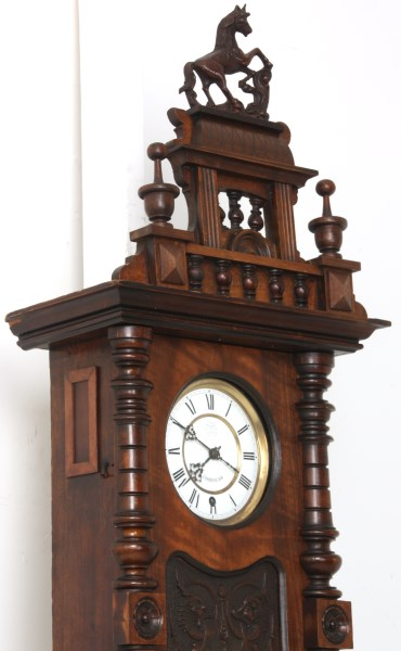 Year Runner Fusee Walnut Vienna Regulator
