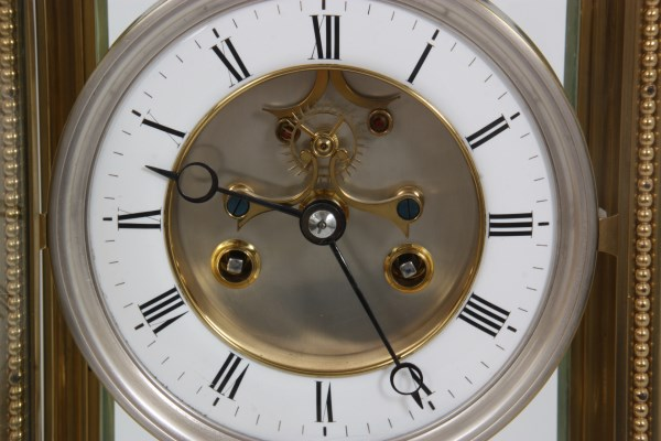 Brass Crystal Regulator Calendar Clock