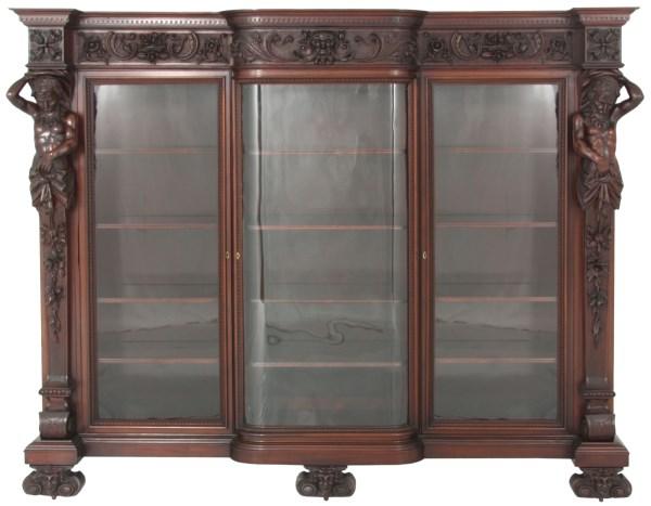 R.J. Horner Mahogany Atlas Bookcase