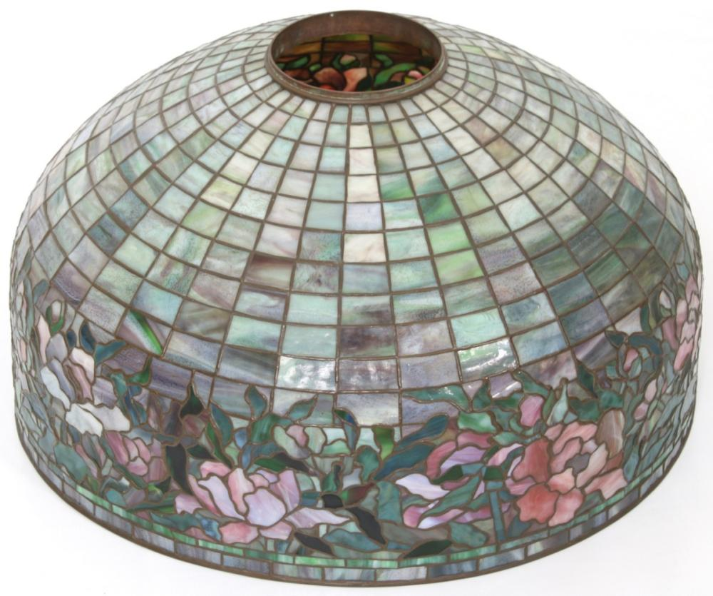 "Tiffany Studios ""Peony Border"" Floor Lamp"