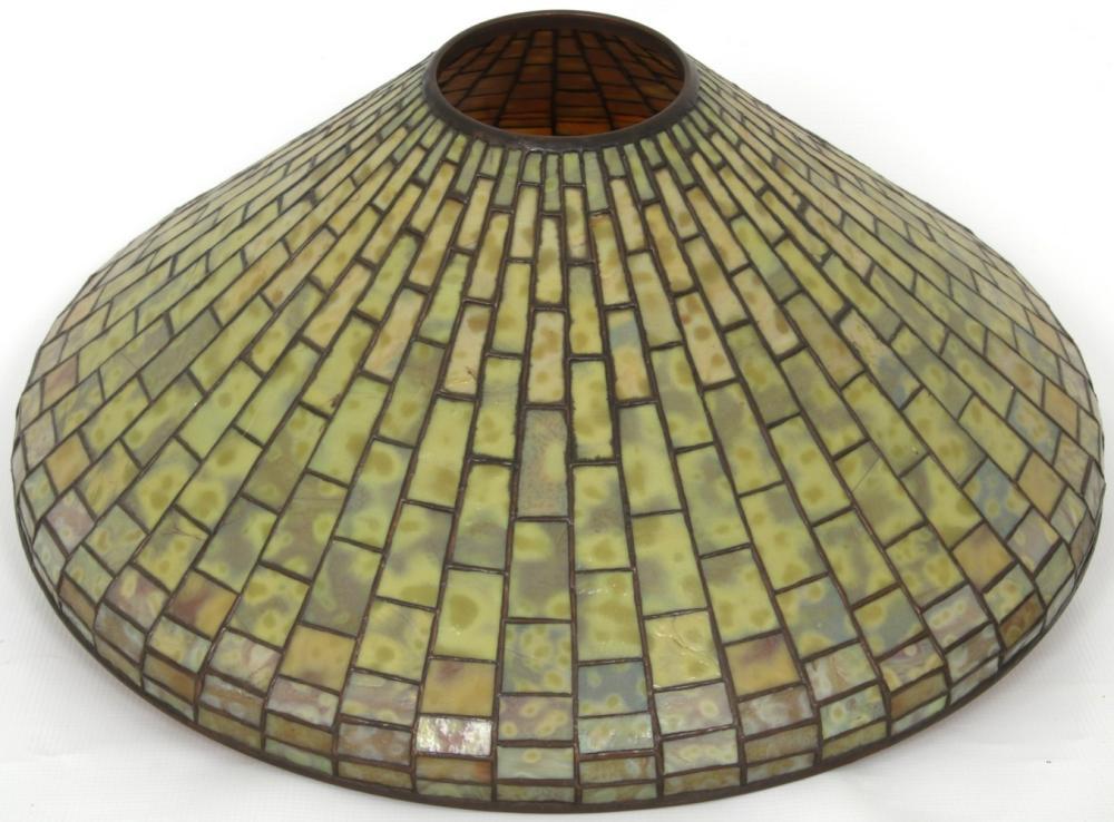 Tiffany Studios Dichroic Geometric Table Lamp