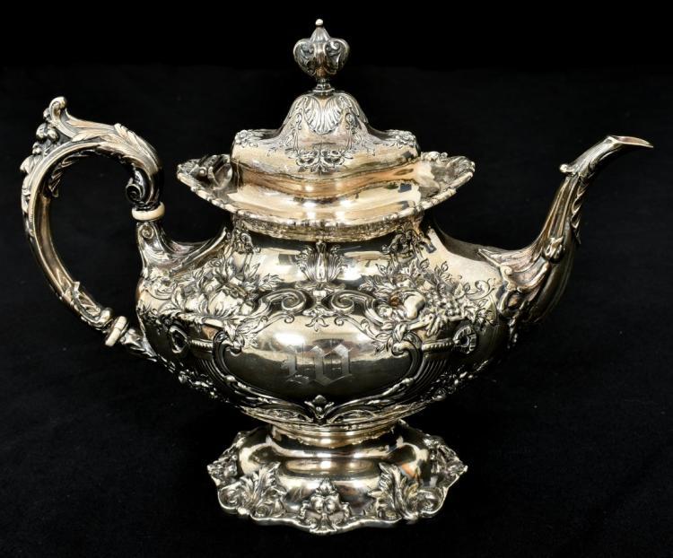 6 Pcs. Sterling Francis 1 Silver Tea Set