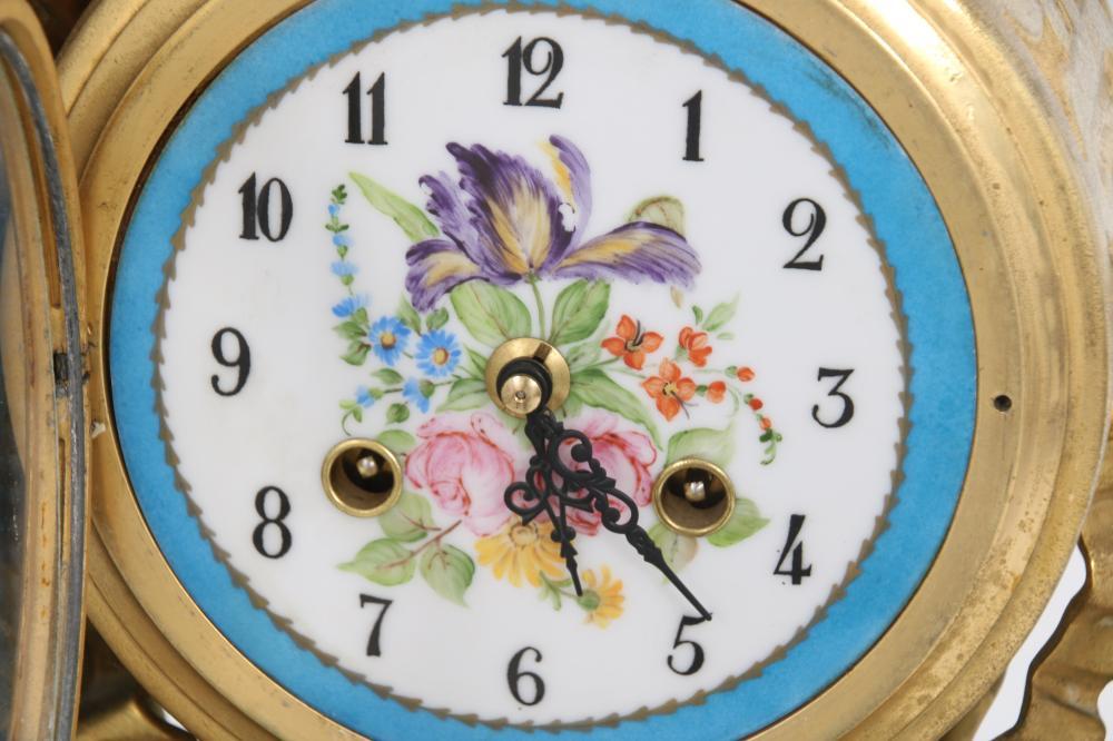 Auguste Moreau Bronze Figural Mantel Clock