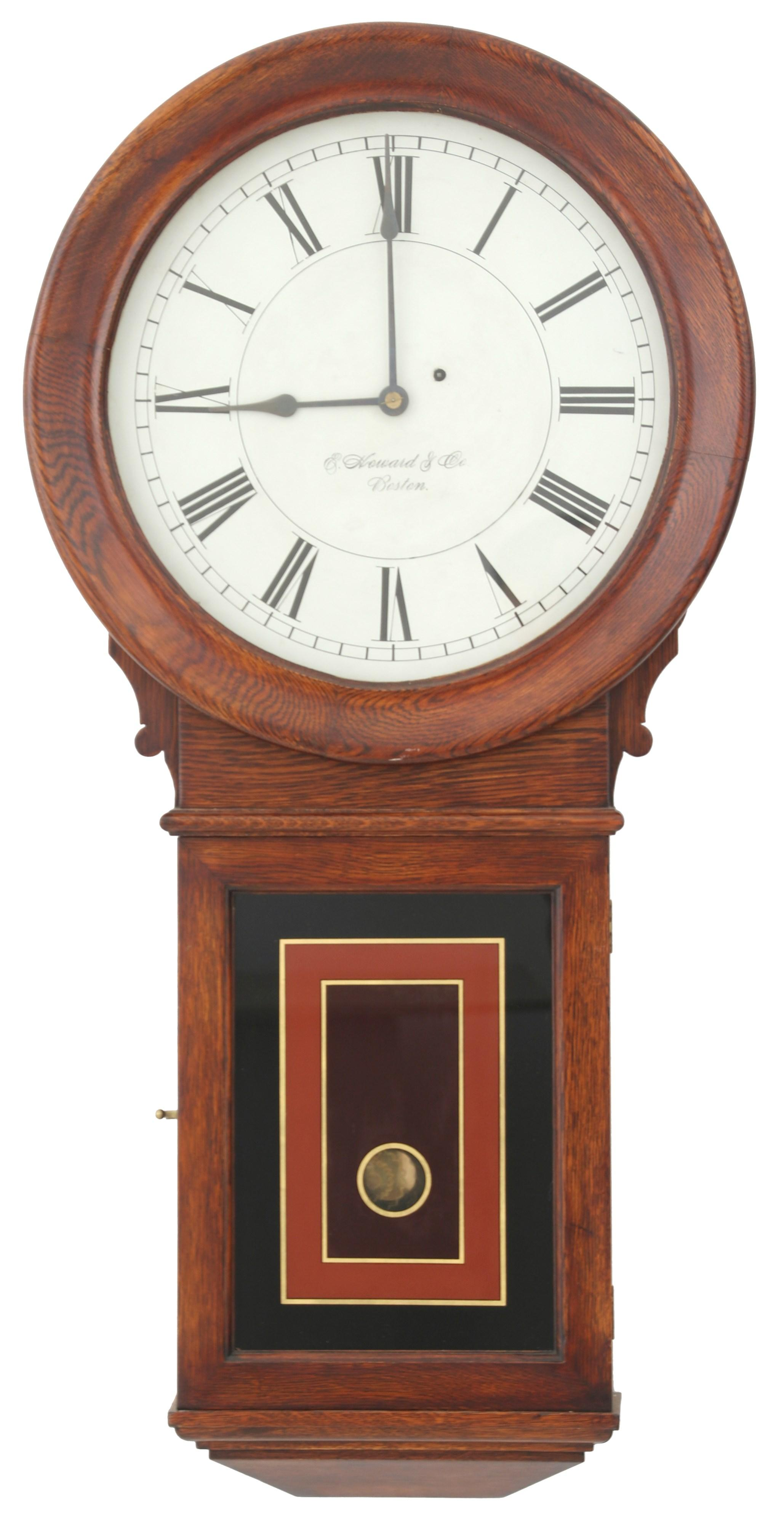 E. Howard & Co. No. 70-16 Oak Wall Clock