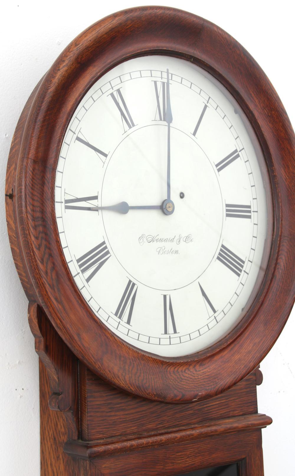 E. Howard & Co. No. 70-16 Oak Wall Clock
