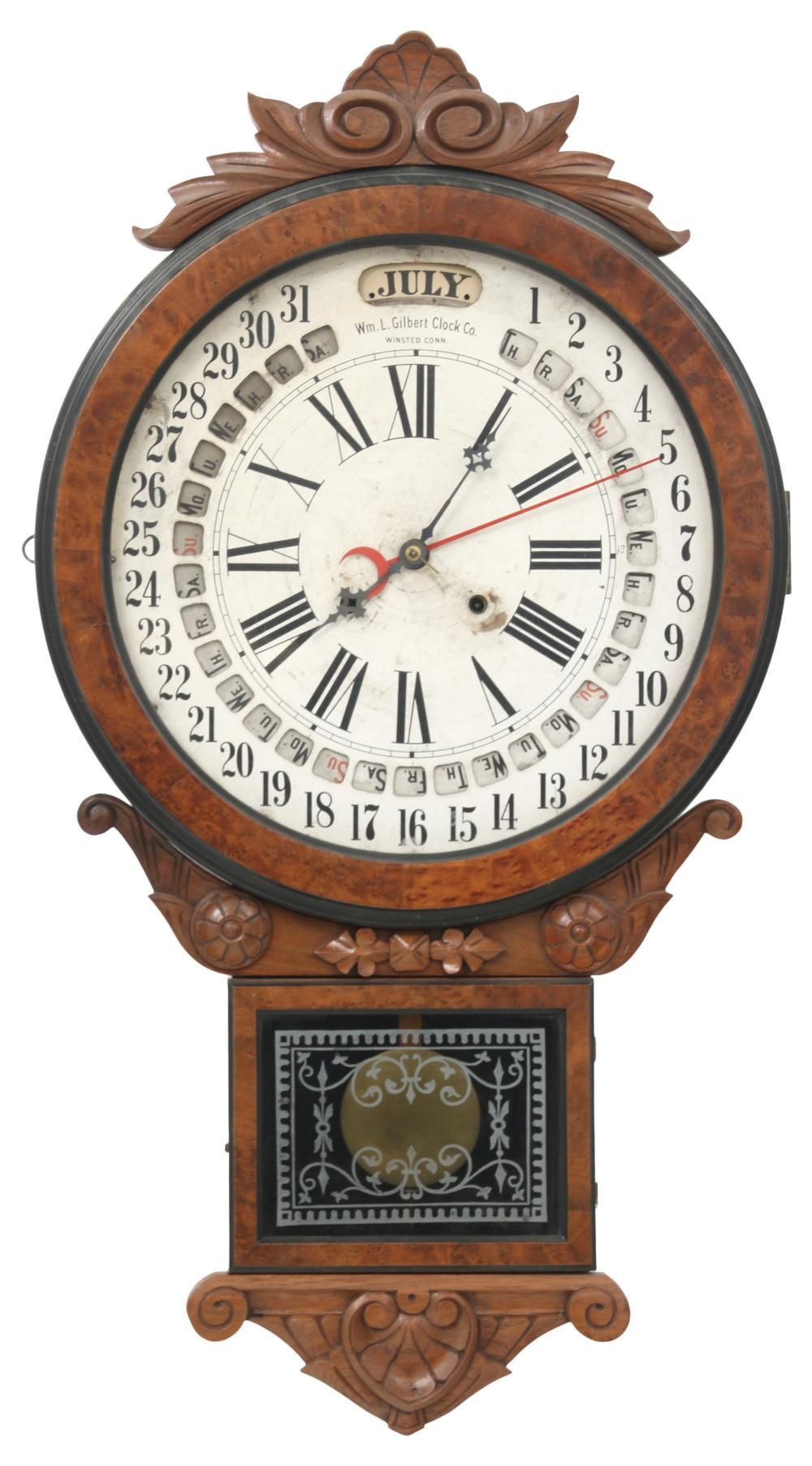 """Gilbert """"Office Drop"""" Calendar Clock"""