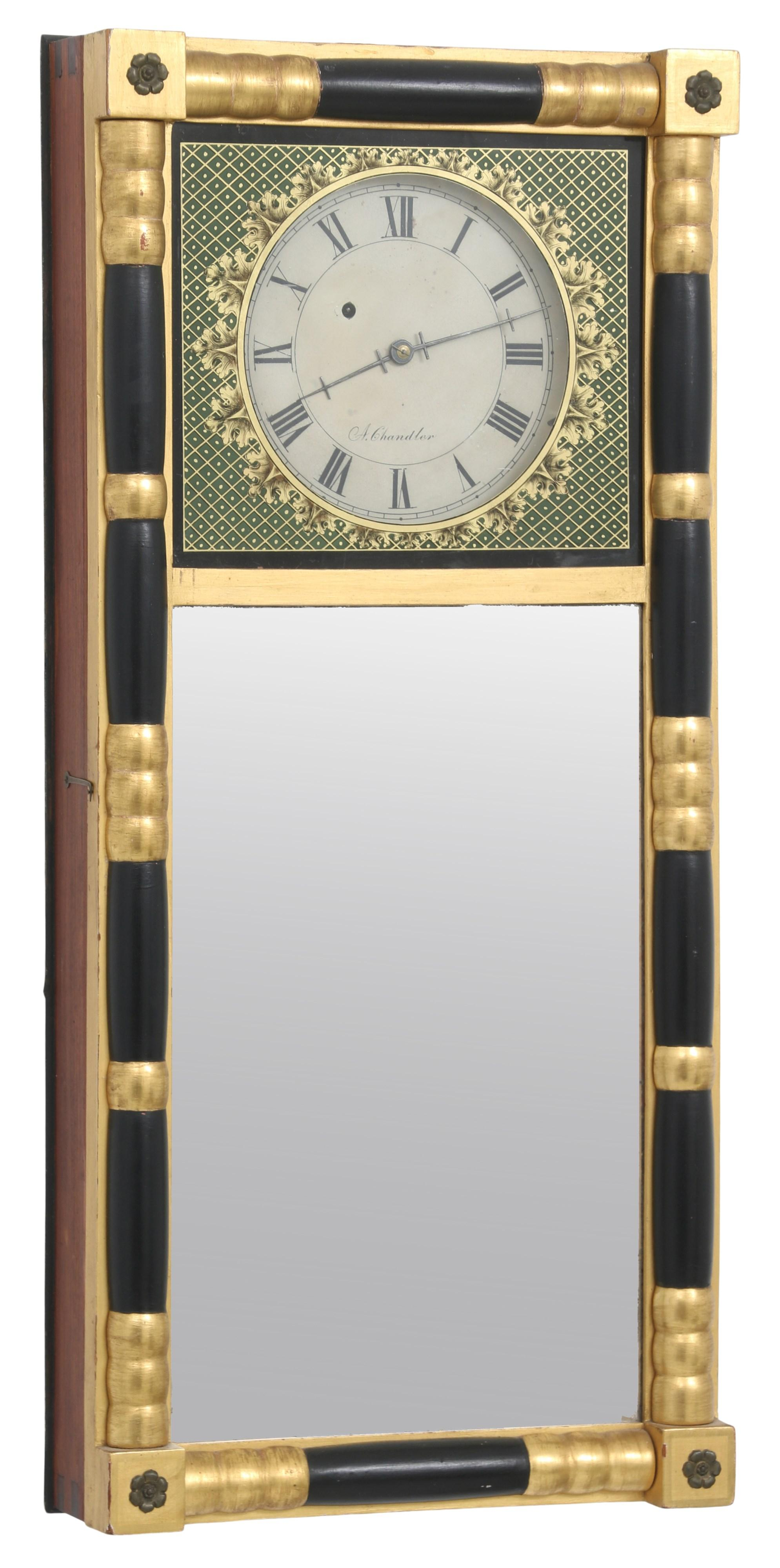 Abiel Chandler New Hampshire Mirror Clock