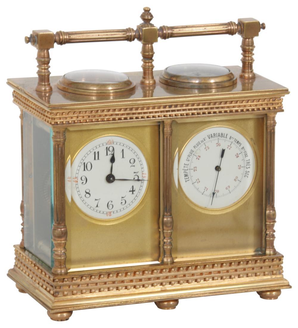 French Compendium Desk Clock