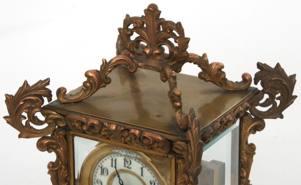 "Waterbury ""Nevers"" Crystal Regulator Clock"