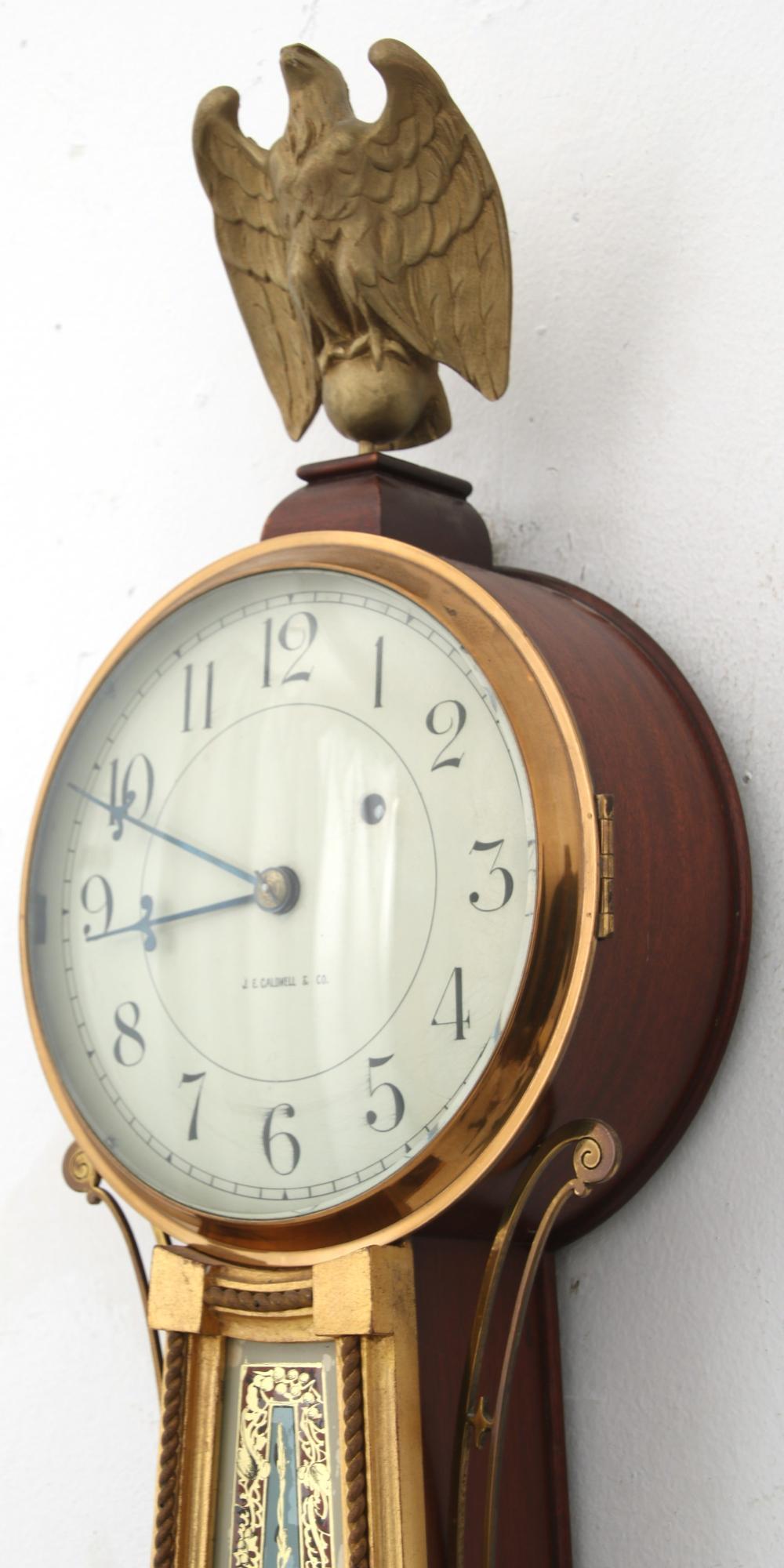 J.E. Caldwell Presentation Banjo Clock