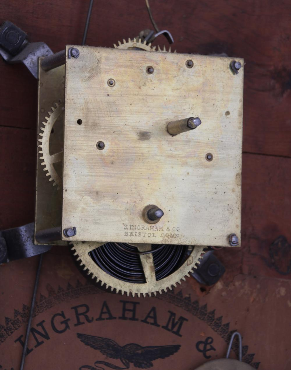 "Ingraham ""Corrugated"" Wall Clock"
