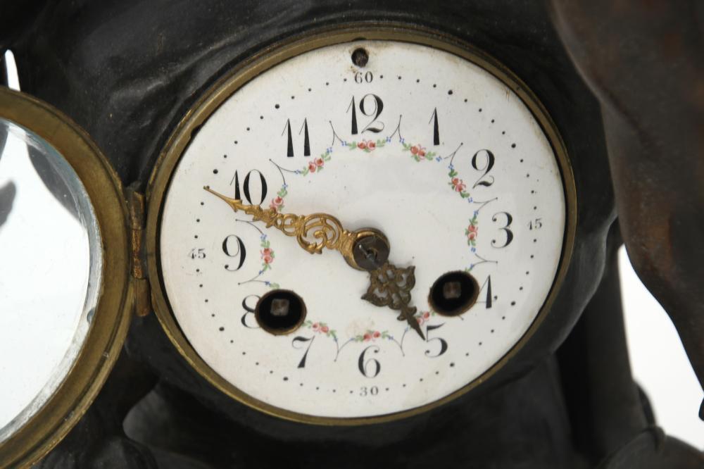 Emile Louis Picault Figural Clock