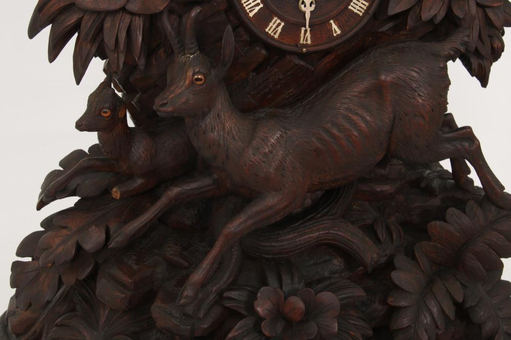 Black Forest Carved Mantel Clock