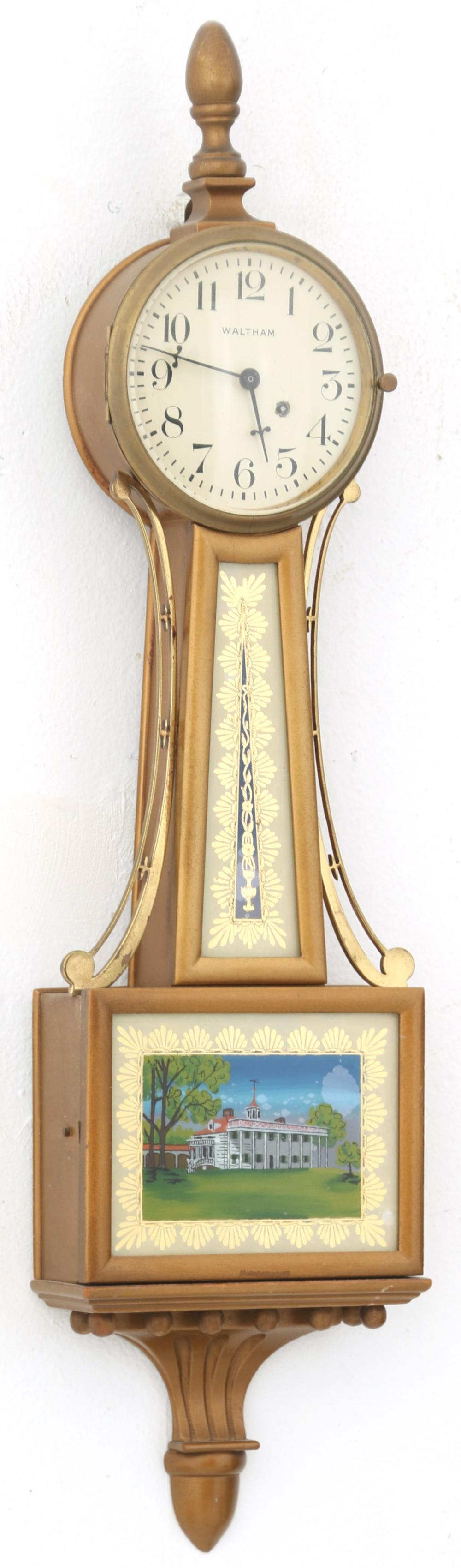 Waltham Miniature Presentation Banjo Clock