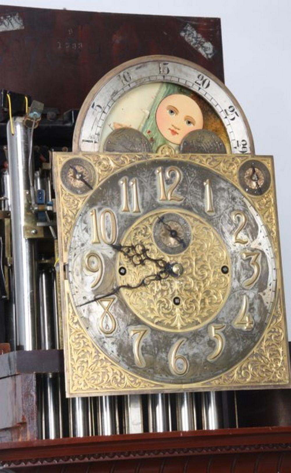 J.J. Elliott Mahogany Grandfather Clock