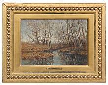 Henry H. Ahl Oil on Canvas Landscape