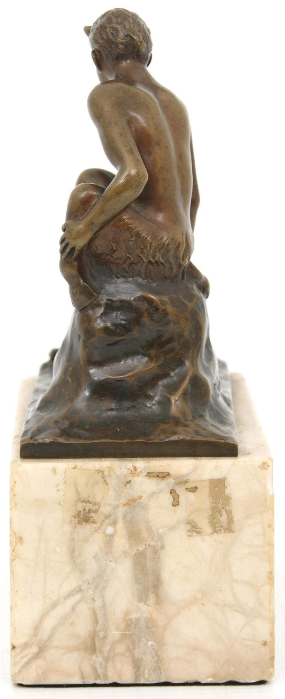 Bronze Sculpture of a Faun & Frog