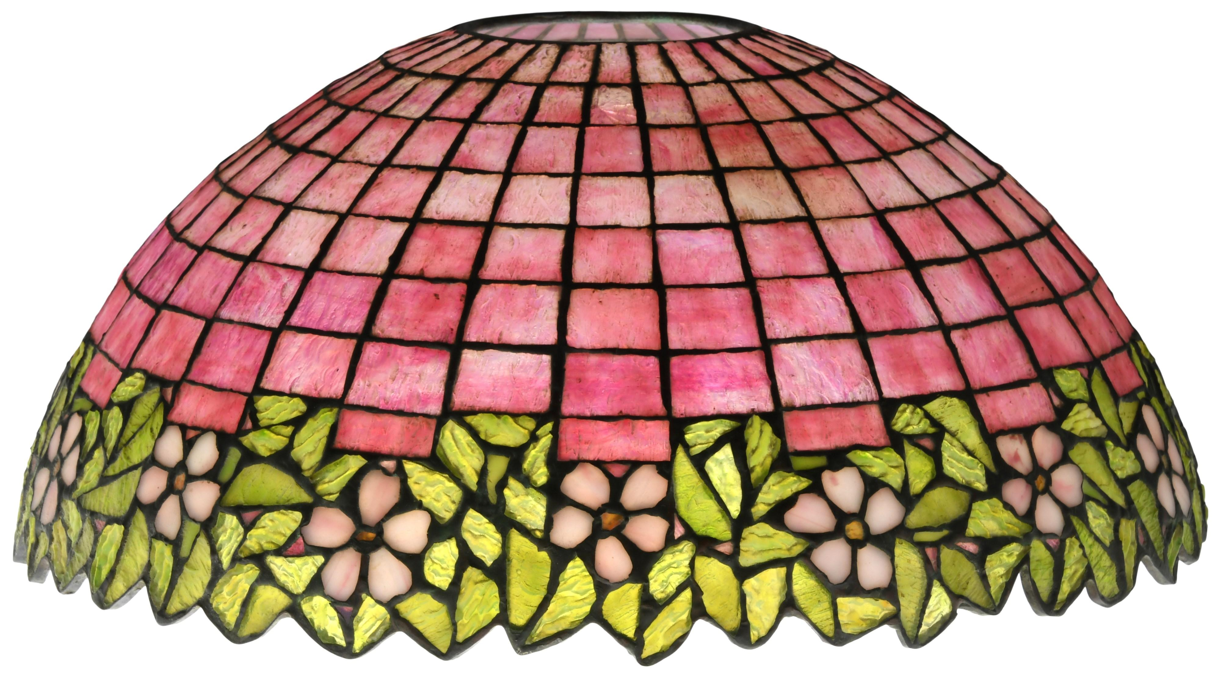 Unique Art Glass & Metal Co. Floral Lamp Shade