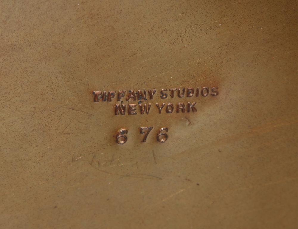 """Tiffany Studios """"Linenfold"""" Floor Lamp"""