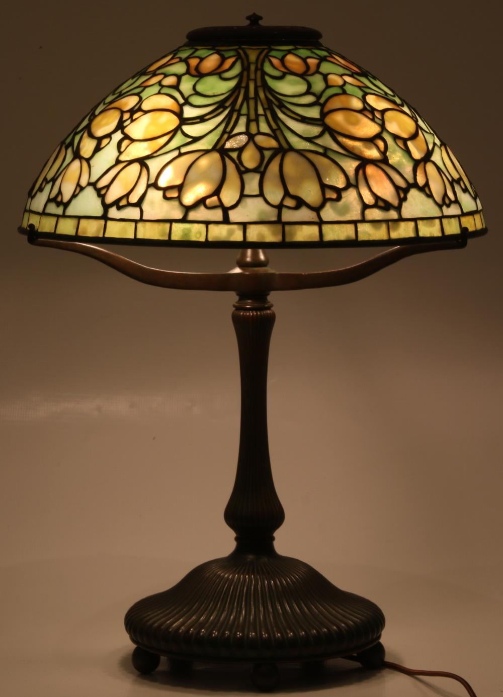 "Tiffany Studios ""Crocus"" Table Lamp"