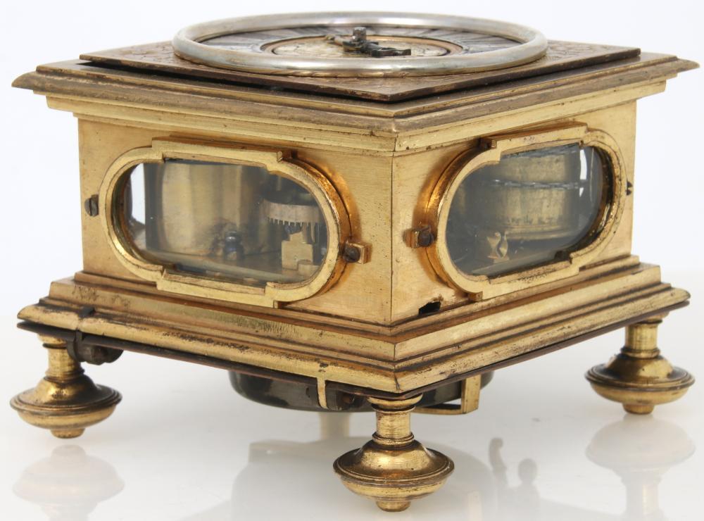 Johannes Buz Gilt Brass Repeating Table Clock