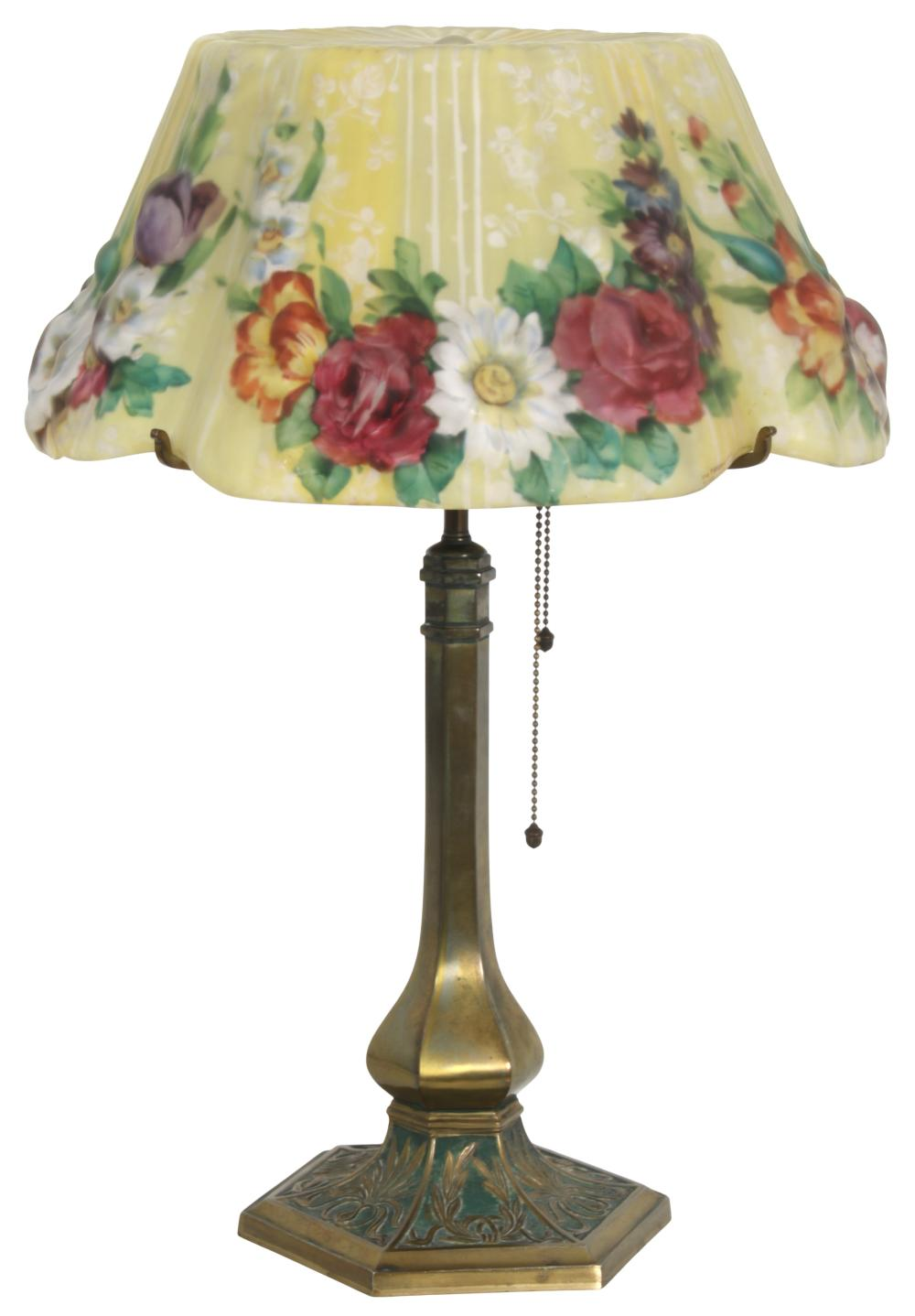 """Pairpoint """"Devonshire"""" Puffy Table Lamp"""