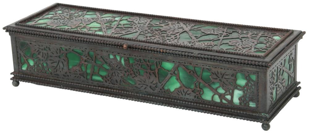 "Tiffany Studios ""Grapevine"" Glove Box"