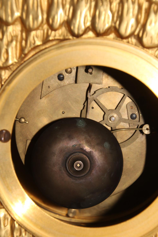 Louis XV Style Gilt Bronze Figural Mantel Clock