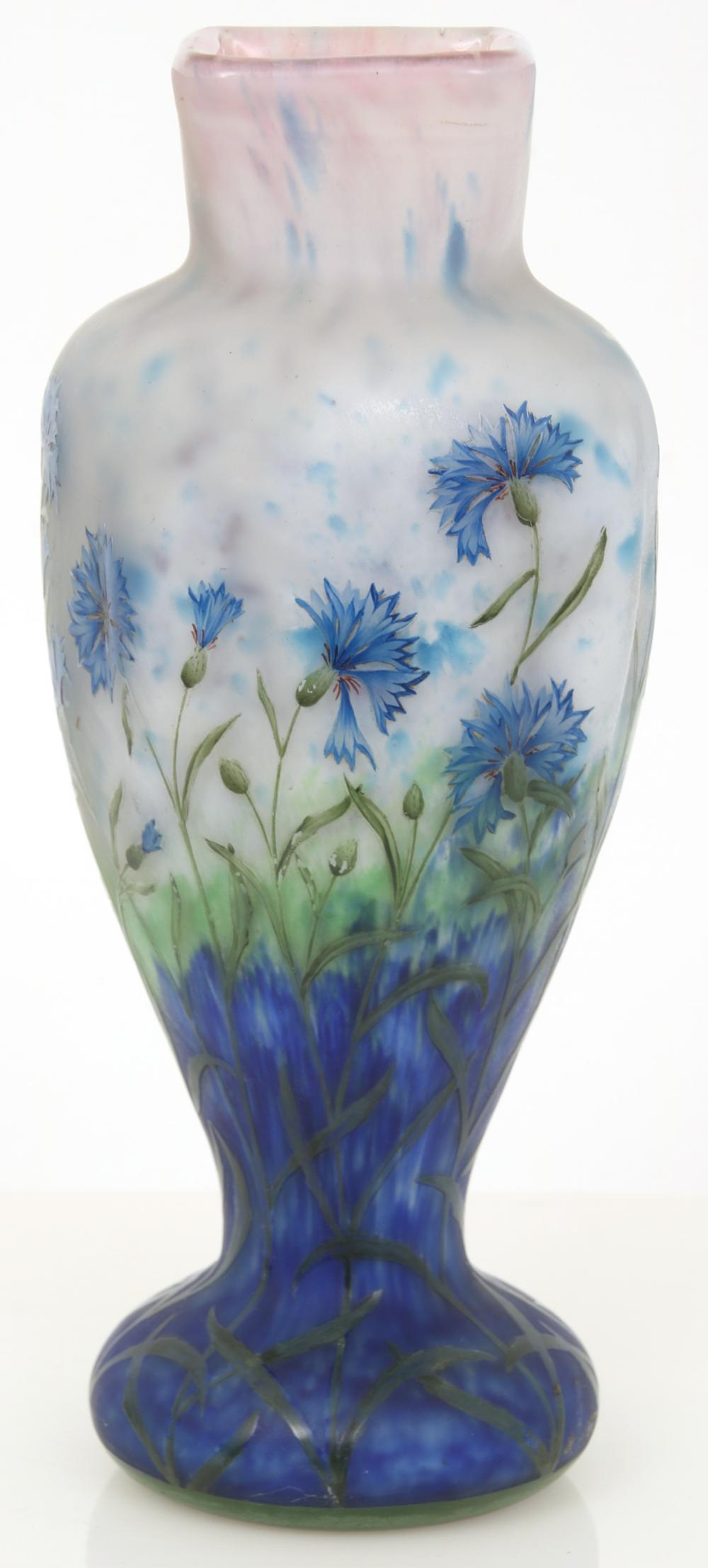 "Daum, Nancy, ""Cornflower"" Vase"