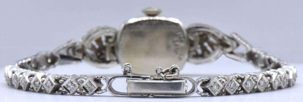 Longines 14K White Gold & Diamond Watch